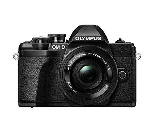 Olympus OM-D E-M10 Mark III Kit Fotocamera di Sistema Micro 4/3, 16 MP, Stabilizzatore d'Immagine a 5 Assi, Mirino Elettronico e Obiettivo M.Zuiko 14-42 mm EZ Zoom e M.Zuiko 40-150 mm Telezoom, Nero