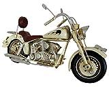 Goldbach Blech Motorrad beige Nostalgic Art Blechmodell Flammen Nostalgie 27 x 10,5 x 15 cm Metall...