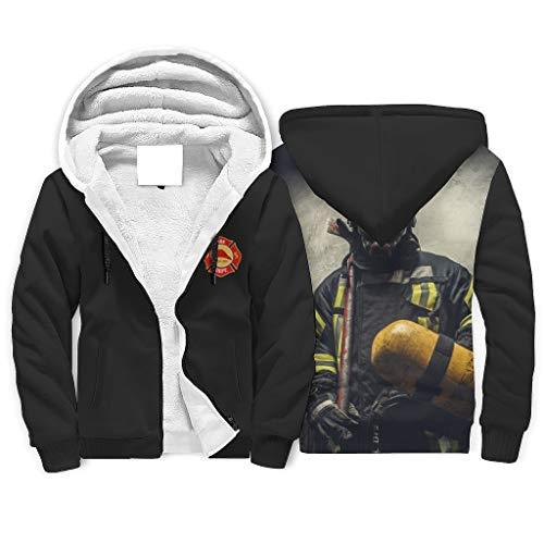 Twelve constellations Sudadera con capucha para hombre, diseño de bombero, color blanco, talla XL