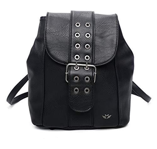Fritzi aus Preussen Damen Elfi Backpack medium Rucksack, Black, One Size