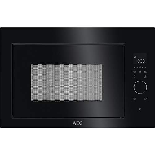 AEG MBE2657SEB Einbaubare Mikrowelle, LCD-Display, Innenbeleuchtung, elektronische Öffnung, Auftauprogramm, 3 programmierbare Funktionen, 900 W, Schwarz, 26 l