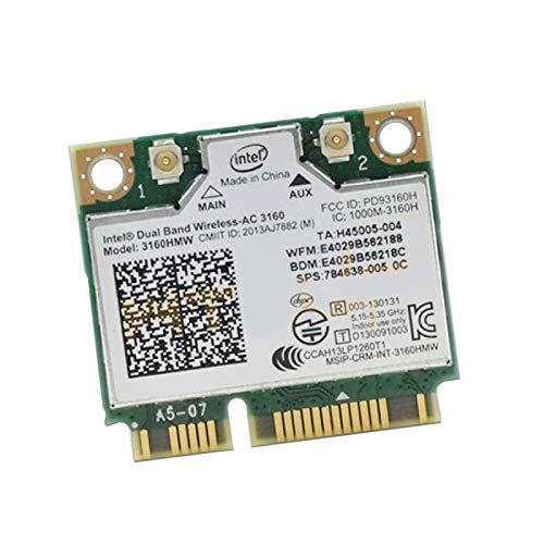 Intel - Tarjeta Wi-Fi (Dual Band Wireless-AC 3160 1000M-3160H PD93160H