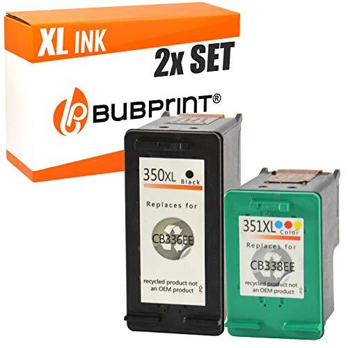 Bubprint 2 Druckerpatronen kompatibel für HP 350 351 XL 350XL 351XL für Deskjet D4260 D4360 Officejet J5730 J5780 J5785 J6400 Photosmart C4200 C4280