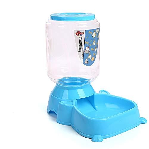 ETH Mascota Alimentación Automática Tazón Perro Perro Gato Comida Comida Polvo Plástico Azul Comida para Mascotas 4.0L Gran Capacidad Durable