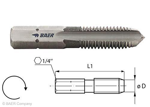 BAER HSSG Bit-Gewindebohrer M 6 x 1,0 - Gewindeschneider metrisch Gewinde schneiden Akkuschrauber