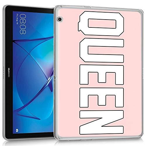 Pnakqil Custodia Cover per Huawei Mediapad T3 10, Ultra Sottile Protettiva Case in Morbida Silicone TPU Trasparente Antigraffio Custodia per Huawei Mediapad T3 10 9,6 Pollici, Queen