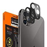 Spigen 【ブラック 2枚】 iPhone 11 Pro Max/iPhone 11 Pro カメラフィルム 日本旭硝子製 レンズ保護ガラスフィルム iPhone11 Pro Max / iPhone11 Pro カメラ 硬度9H 高透過率 指紋防止 飛散防止 【Glas.tR FC】 (AGL00500)