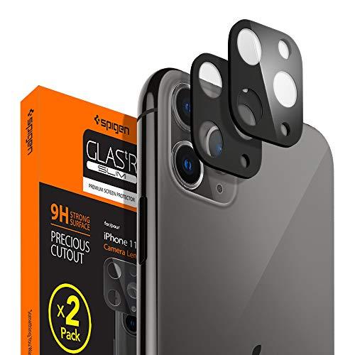 Spigen 【ブラック 2枚】 iPhone 11 Pro Max/iPhone 11 Pro カメラフィルム 日本旭硝子製 レンズ保護ガラス...