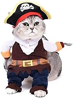 Cat Dog and Pets Funny Costume Pirate Clothes Dress Suit -M
