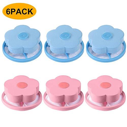Sureh Fusselfänger für Waschmaschine, wiederverwendbar, 6 Stück
