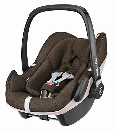Maxi-Cosi Pebble Plus Babyschale, sicherer Gruppe 0+ i-Size Kindersitz (0-13 kg), nutzbar ab der Geburt bis ca. 12 Monate, passend für FamilyFix One Basisstation, nomad brown