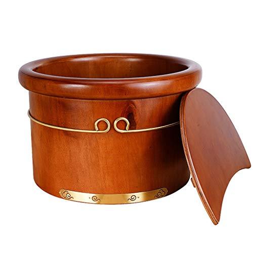 Pieds Barrel Soaking Footbath ménagers en Bois Parents Envoi Pied Lave Seau Santé Pied Seau 25CM ZHANGGUOHUA (Color : Bucket, Size : 25cm)