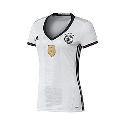 adidas Dfb H JSY W, Maglietta Squadra Tedesca di Calcio Woman (Football), Bianco/Nero (Blanco/Negro), S