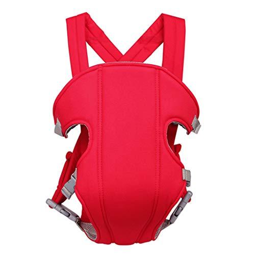 Guoyy - Mochila portabebé para recién nacido, con correas suaves ajustables, multifunción con 4 posiciones rojo rojo