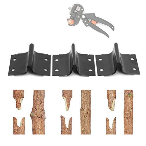 Lames de greffage de jardin, branche de plante branche de vigne arbre fruitier coupe lames de cisaillement Accessoires acier de haute qualité Ω-Cut U-Cut V-Cut 3