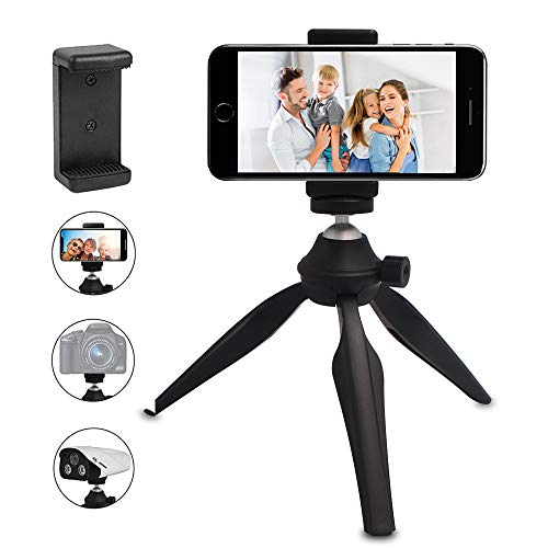 Phone Tripod LINKCOOL 360 Degree Rotation Flexible Octopus Travel Tripod for iPhone//Smartphone//Ipad//DSLR//Sports Action Camera with Bluetooth Wireless Remote Shutter Black