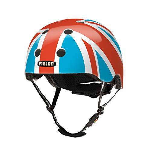 Melon Urban Active Story kask rowerowy dla dorosłych, unisex, niebieski/biały/czerwony, XL-XXL