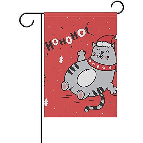 Hao-shop Rote Katze Kitty Nette Gartenfahne Banner Dekoration für Innenhof Hof Outdoor Dekor