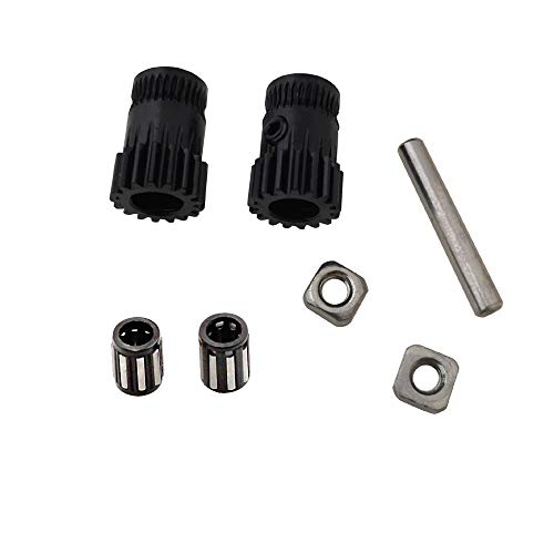 3D Printer Hardened Steel MK3 Drive Gear extruder Dual Gears kit DriveGears Extrusion Wheel for Upgrade Prusa i3 MK2/MK2S/MK2.5 MK3S 3D Printer