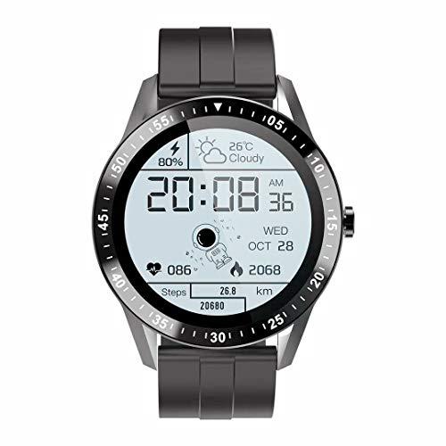 Reloj Inteligente Deportivo para Hombre, Smartwatch para Hombre con Llamada Bluetooth, 1,28 ' TFT, 22MM, Pulsómetro,Resistente al agua,Modo deportivo,Modo de Sueño,Cronómetro,Negro
