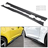 HECASA ZL1 Style Primer Black Side Skirt Panels Compatible with 2016-up Camaro RS & SS