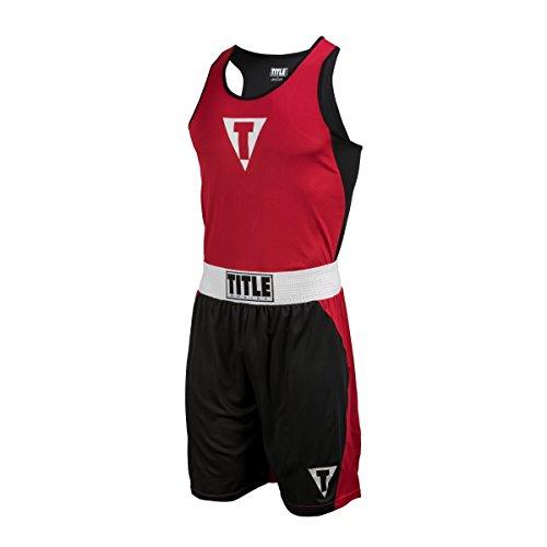 Title Boxing Aervent Elite Amateur Boxing Set 15, Red/Black, Youth Medium