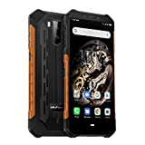 "Ulefone Armor X5, 4G Móvil Antigolpes, MTK6763 Octa-Core 3GB RAM 32GB ROM, Android 9.0 5.5 ""IP68 Impermeable Moviles Todoterreno, Dual SIM, 5000mAh Batería, Desbloqueo Facial NFC Naranja"