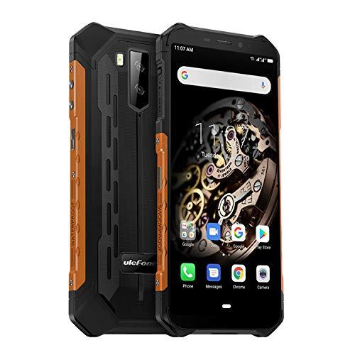 "Ulefone Armor X5 – 4G Outdoor Smartphone Ohne Vertrag, MTK6763 Octa-Core 3GB RAM 32GB ROM, Android 9.0 5.5"" IP68 / IP69K Robustes Handy, Dual-SIM, 13MP + 5MP + 2MP, 5000 mAh Akku, GPS NFC Orange"