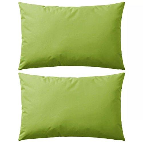 Tidyard 2 pz Cuscini da Esterno, Cuscini per Sedie, Universale per Camera, Poltrona, Salotto, Divano 60x40 cm Verde Mela