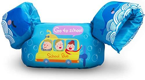 Qshare Schwimmen Weste für Kleinkinder, Baby Schwimmen Sicherheitswesten mit sicherer Schnalle Verstellbarer Riemen 2 Armbänder, Kinder Schwimmhilfen Schwimmhilfe, von 1-6 Jahren, 14-25 kg