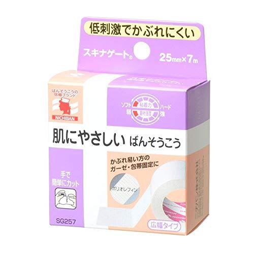 ニチバン 低刺激巻ばんそう膏 スキナゲート 25mm幅 7m巻き 1巻入り