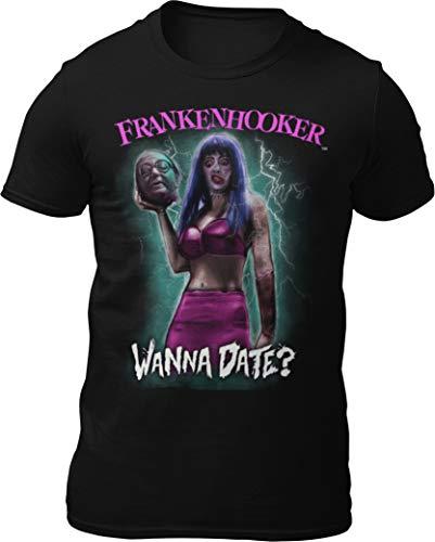 Death Is Coming Frankenhooker - Wanna Date T-Shirt (Large) Black