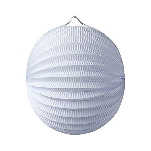 Artif Lampion Boule de 20 cm, Papier accordéon Blanc, à Suspendre