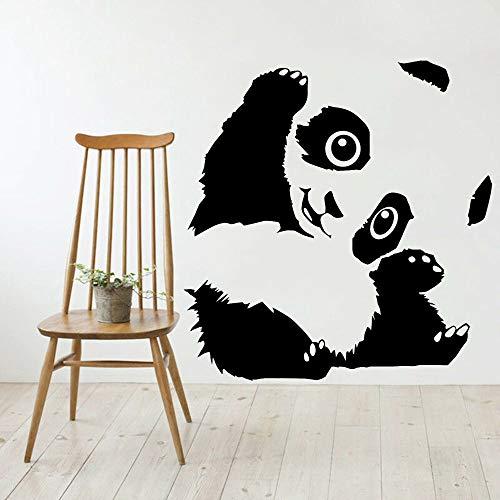 Dibujos animados lindo encantador feliz bebé panda bambú chino animal etiqueta de la pared vinilo coche calcomanía niño niños guardería dormitorio sala de estar decoración del hogar mural