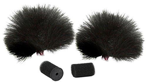 Rycote 065501 Windschutz für Lavalier - Black (2er Pack)