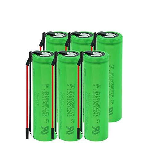 3.7v 2600mah 18650 VTC5 30a Batería De Iones De Litio De Litio, con Cables BateríAs Recargables para Luz LED 6PCS
