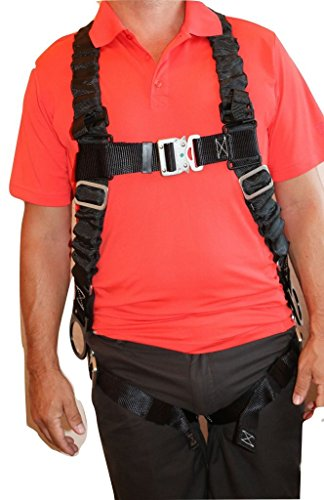 Ultra Pillow-Flex Harness, Quick Release, 3 D-Rings & Padded Leg Straps