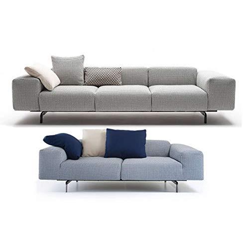 Kartell Largo Sofa 2-Sitzer Hahnentritt - senf