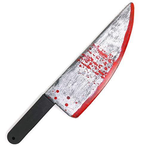 """Skeleteen Large Bloody Knife – 16"""" Long, Realistic Looking Prank Toy, Fake Plastic Blade with Blood Stains - Costume Prop or Gag Blade for Halloween Haunted House, April Fools"""