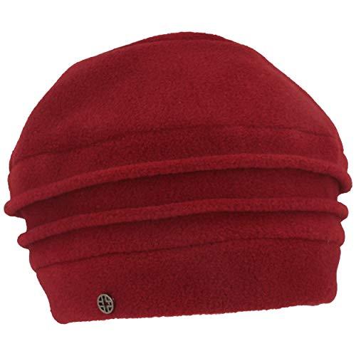 LOEVENICH Damen Winter-Mütze | Fleece-Mütze aus weichem Polar Soft Fleece Biesen (One Size, Dark red - Baske Biesen)