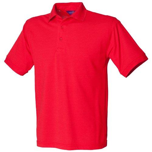 Henbury - Polo à Manches Courtes - Homme (3XL) (Rouge)