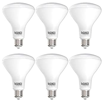 Sunco Lighting 6 Pack BR30 LED Bulb 11W=65W 3000K Warm White 850 LM E26 Base Dimmable 25,000 Lifetime Hours Indoor Flood Light for Cans - UL & Energy Star