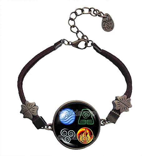 Handmade Fashion Water Tribe Earth Kingdom Air Nomads Art Symbol Avatar the last Airbender Bracelet Legend of Korra Pendant Charm Cosplay
