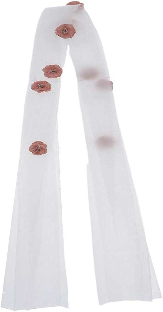 Fityle Handmade Flower Bridal Hair Veil Bride Tiara Headband Prom Wedding Headpiece