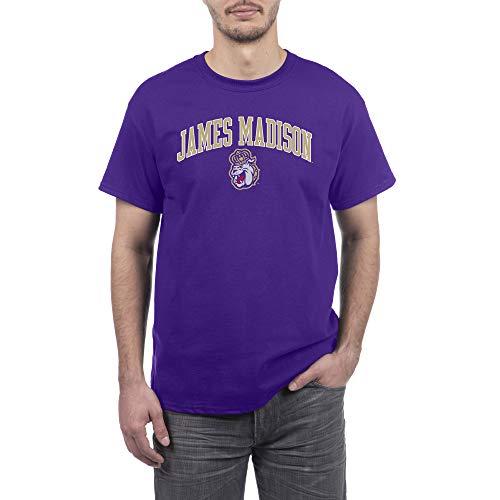 Elite Fan Shop Camiseta de Manga Corta con Arco de Color del Equipo para Hombre, Hombre, 16853_TC_Arch, James Madison Dukes Púrpura, M