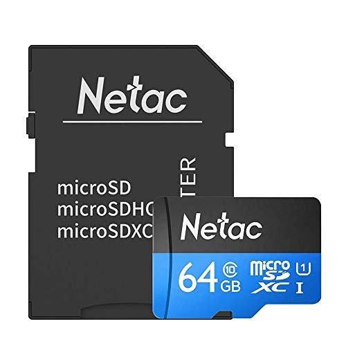 Cartão Memória MicroSD 64GB 80MB/s Netac c Adap