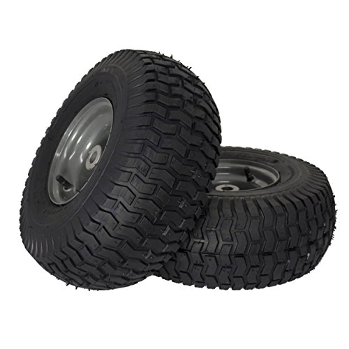 """MARASTAR 21446-2PK 15x6.00-6"""" Front Tire Assembly Replacement-Craftsman Mower, Pack of 2"""