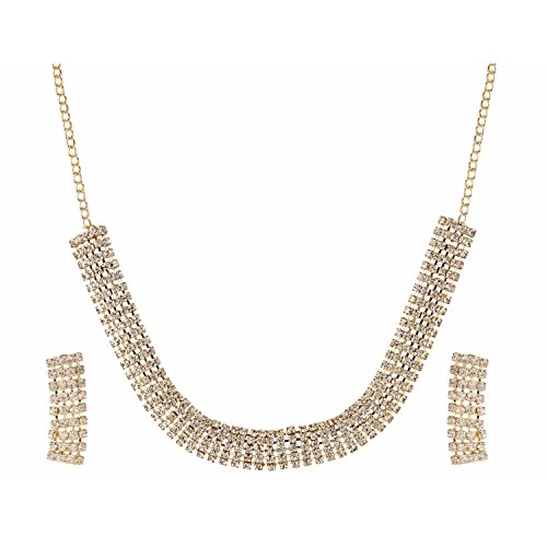Efulgenz Indian Bollywood Designer Gold Plated Crystal Stylish Necklace...