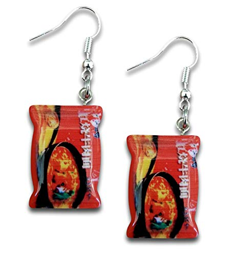 Pashal World Spiciest Chicken Flavor Noodle Extra Spicy Drop Dangle Earrings