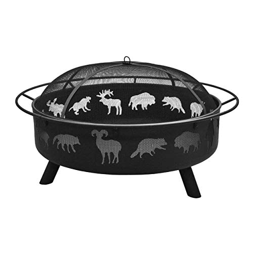 Landmann 28915 Super Sky Sturdy Steel Fire Pit, Black